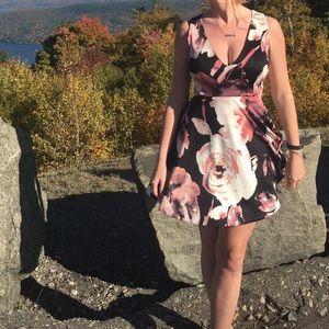 Cutout open back dress